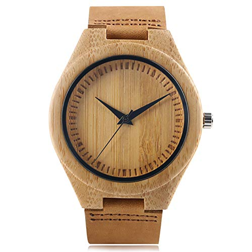 Kreative Holzuhr, Bambus Holz, handgefertigt, Bambus Armband Xmas Gift