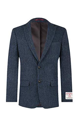 Dobell Harris Tweed Herren Jackett Blau Fischgrätenmuster-60
