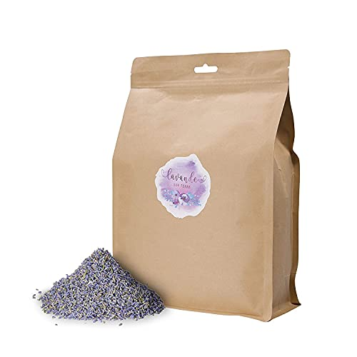 Ultra Premium Dried Lavender Flower Buds for DIY Lavender Projects – Lavender Sachets, Handmade Bath Bombs, Soap, Scented Gift Sachets, Candles or Wedding Toss Sachets Bags (16 Ounces Bag), LV-O-N-3