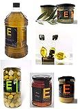 Lote Ahorro - 6 Productos- Aceite de oliva virgen extra, miel, aceitunas, tapenade, mermelada y monodosis
