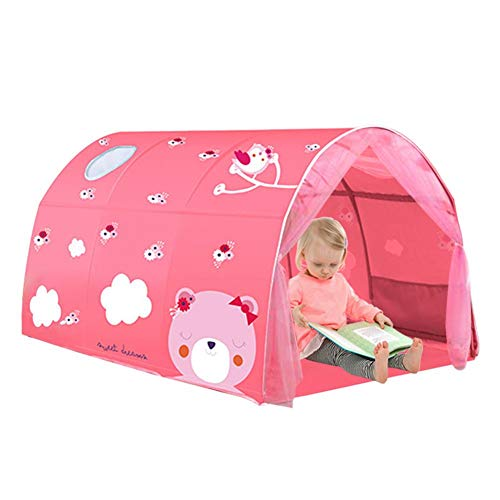 matago Tent-Pop Up Tents Bed Tents,Children's Tents, Bed Canopy Tents Dream Privacy Space Twin Size Sleeping Tents Indoor Pop Up Portable Curtains Bed Tent Bed Canopy Dream Kids Play Tents Fitting