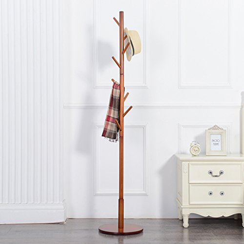 NYDZDM Perchero de madera maciza para ropa de aterrizaje, para dormitorio, ropa de estilo europeo, para colgar ropa simple vertical (color: # 5)