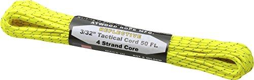 アトウッドロープ(Atwood Rope) 登山 アウトドア 万能ロープ タクティカルコード レフレクティブ ネオンイエロー 太さ2.4mm 44017