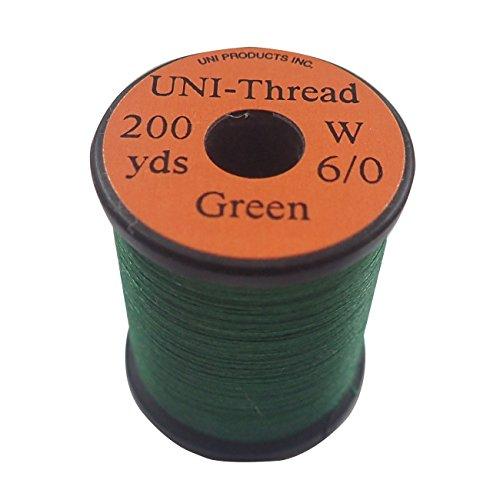 ティムコ(TIEMCO) フライタイイング UNI ユニスレッド 6/0 200ヤード グリーン