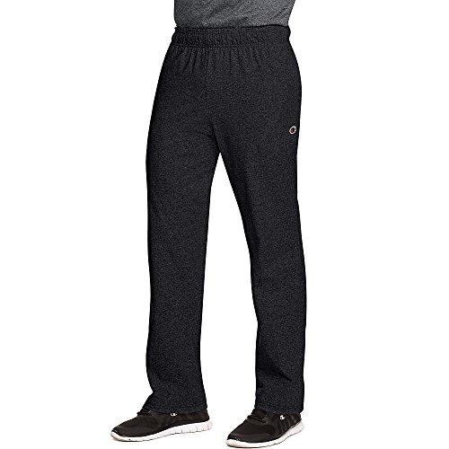 Champion Authentic Men's Open Bottom Jersey Pants_Granite Heather_2XL