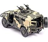 YXYOL Simular Ejército Camión blindado de Coches de Juguete, con Regalos de los Muchachos Niños de Sonido y luz LED, 1: 32 Diecast Metal Modelo vehículo Militar