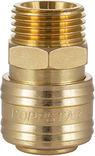 Poppstar Schnellkupplung Druckluft NW 7,2 mit 1/2 Zoll Außengewinde für Druckluft-Anschluss