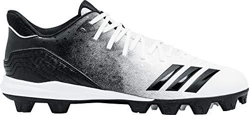 adidas Icon 4 Md White/Black Baseball Shoes (G26695)