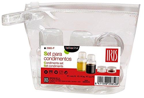 IRIS Estuche Condimentos, Naranja y Verde, 15x4.2x12 cm