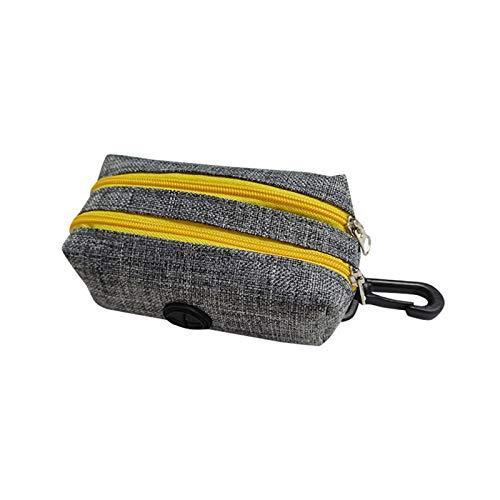 ASDFGT-778 Abbaubare Hund Kacke Taschen Spender Outdoor Portable Haustier Trash Taschen LED Licht Umweltfreundliche Abfallbeutel Dispenser Reinigungszubehör (Color : Gray 2, Size : One Size)