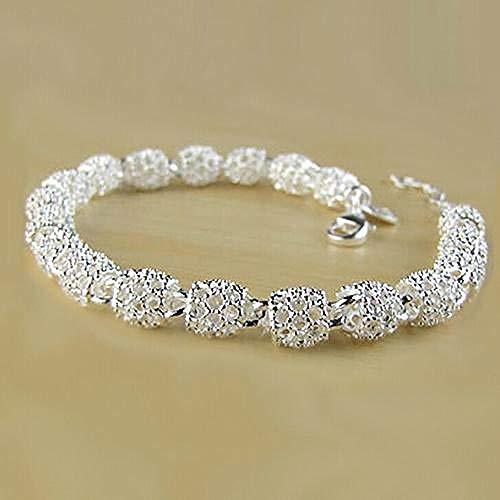 RFGHATG Dames Zilveren Holle Ketting Armband Bedel Armband Armband Polsband Crystal Armband