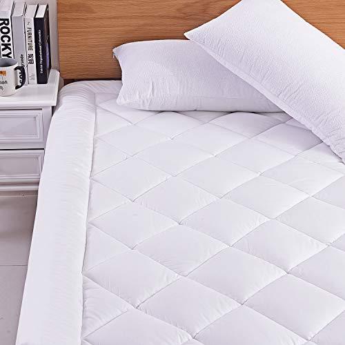 Preisvergleich Produktbild RICHAIR Mattress Pad,  Baumwolle,  weiß,  180x190 / 200cm
