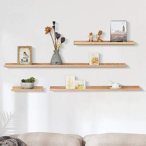 AFQHJ Display planken Zwevende planken Rustieke Zwevende Plank Opslag Rack Multifunctionele Houten Wandplanken Voor Foto's, Decoraties Beige|Bruin