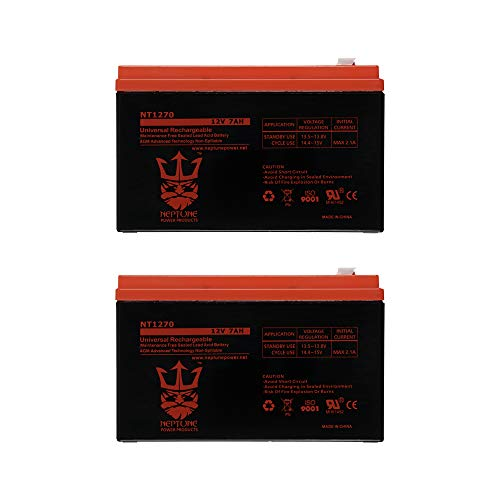 UPG UB1270 12V 7Ah Replacement Battery FM150 / GTO Gate Openers NT1270 by Neptune - 2 Pack