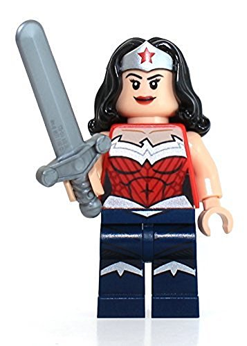 LEGO DC Comics Super Heroes Minifigure - Wonder Woman Dark Blue with Sword New 52 (76026)