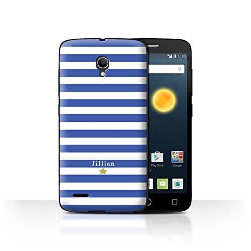 Stuff4Phone Case/Cover/Skin/alcpop25/Custom Stripes/Striped Collection Étoile Rayure Bleu
