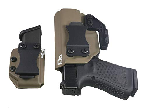FDO Industries IWB Kydex Holster Compatible with Glock 19 23 32 w/IWB Mag Carrier -The Paladin Series -Made in USA- GEN 5 Compatible (Flat Dark Earth)