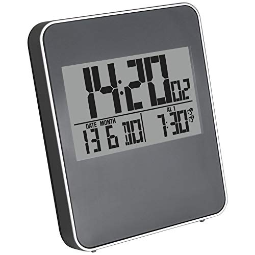 TW24 Digital Funkwecker mit Bewegungssensor Wecker batteriebetrieben Funk Uhr Reisewecker Kinderwecker Digitaluhr Tischuhr