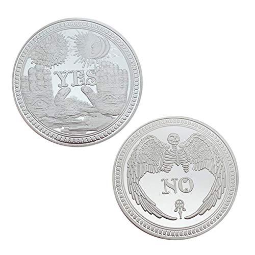 Saiifu Herausragende Creative Ja oder Nein Machen EIN Entscheidung Münze Sammlung Love Gold Leicht Modisch Münzen in Fein Stil - Silbern