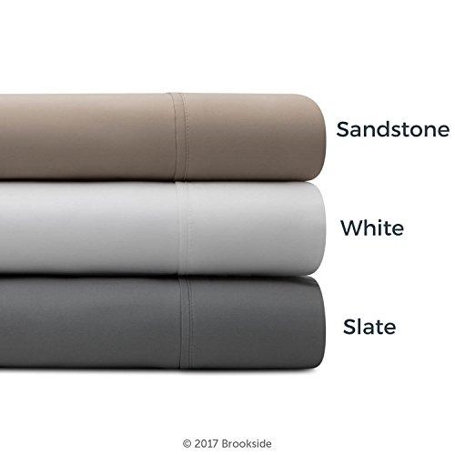 Brookside Tencel Sheet Set -Luxurious Feel - for Sensitive Skin Sateen Weave -Eco Friendly, Twin XL, White