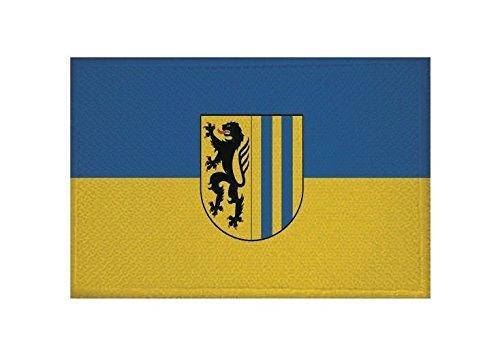 U24 Aufnäher Leipzig Fahne Flagge Aufbügler Patch 9 x 6 cm