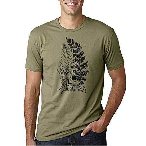 The Last Ellie Tattoo of us Part 2 - Camiseta Fruit of The Loom Manga Corta (Verde Oliva, XL)