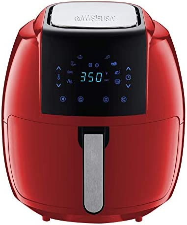 GoWISE USA 7 Quart 8 in 1 Digital Air Fryer with Recipe Book 7 0 Qt Red product image
