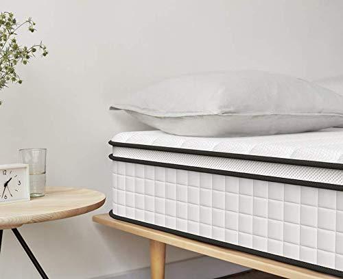 Queen Mattress, Inofia 10 Inch Responsive Memory Foam Mattress, Hybrid Innerspring Mattress in a Box, Sleep Cooler...