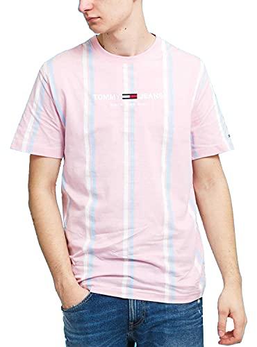 Tommy Hilfiger Jeans Tjm Stripe 3 Tee Camiseta Hombre DM0DM11516 TOJ Romantic...