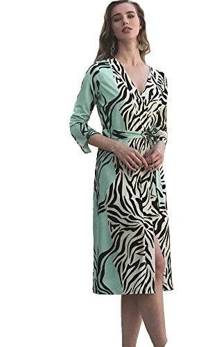 Michaela Louisa Mint Zebra Long Sleeve Dress (14)