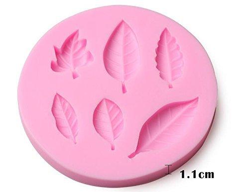 NiceButy 3D a Forma di Foglia Fondente Silicone Stampo in Silicone Forme del Sapone Torta Decorazione Strumenti