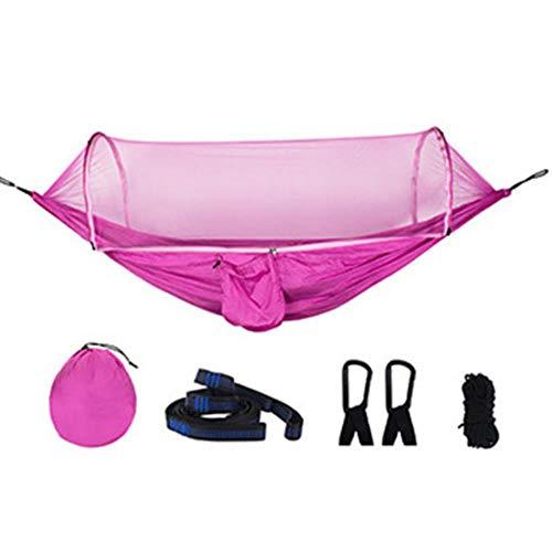 Legergroene Quick Open Hangmat Anti-mug Outdoor Camping Hangstoel Draagbare Grote Slaaphangmat, roze