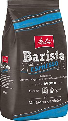 Melitta Ganze Kaffeebohnen, kraftvoll und würzig, Stärke 5, Barista Espresso, 8 x 1kg