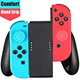 Joy-Con Comfort Grip, Controller Hand Grip Compatible with Switch/Switch OLED Joy-Con, 2pcs Thumbstick Caps Included
