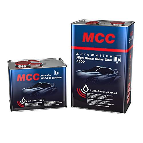 Automotive High Gloss Clear Coat 2K MCC HS Clear 5500 2:1 Gallon Clear Coat Medium Kit