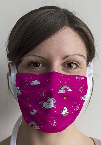 Mund/Nasen Maske MN5006PÜ Design PÜPPI-Einhorn, bunt