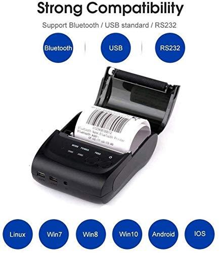 Thermal printer Imprimante de Billets personnelle Portable 2 Pouces 58mm Mini-imprimante USB POS pour la Vente au détail de Restaurants Compatible avec Android/iOS/PC/Windows/Linux