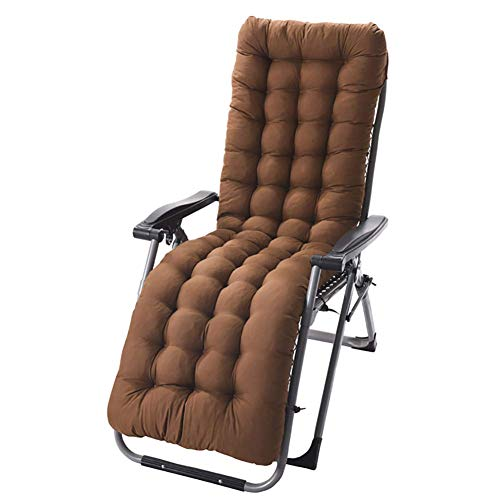 MSTOLL Almohadilla de Asiento, Almohadilla de Respaldo Alto, Almohadillas de Silla Almohadilla de Silla de jardín Espesa, sillón de Patio Almohadilla Suave de Interior al Aire -155x48x8cm marrón
