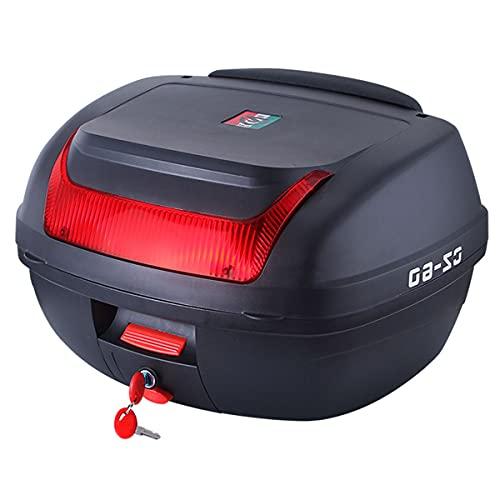 GELEI Bauletto per Scooter Bauletto Moto Impermeabile Poggiaschiena Scooter Universale con Riflettori Rossi Disponibili in Diverse Misure,A