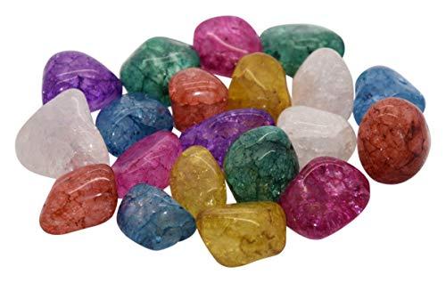 AMAHOFF Magic Stones (20 Stück) - gefrostete Bergkristalle - einzigartiges Farbenspiel - geeignet für Kinder und als Dekoration