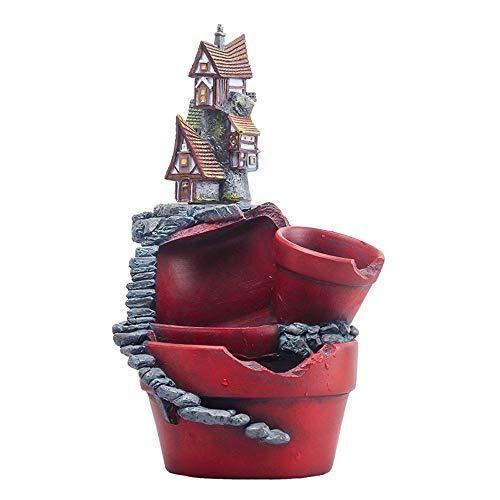 XHZJ Château Elf Décor À La Maison Plant Planteur Européenne Vintage Château Creative Ciel Jardin Micro Paysage Succulentes Vide Pot À Fleurs Décoration Intérieure en Résine Fleur (Color : No. 1)