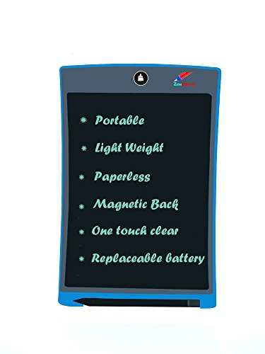 LCD Writing Tablet 8.5 inch Electronic Smart Writer Stylus Paperless Writing Pad Replaceable Battery - One Button Quick Erase - Great for Kids and Adults (Magnetic Back)
