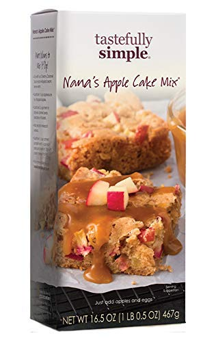 Tastefully Simple Nana's Apple Cake Mix - Perfect Cakes, Muffins, Carrot Cake, Add in Nuts - 16.5 oz (2-Pack)