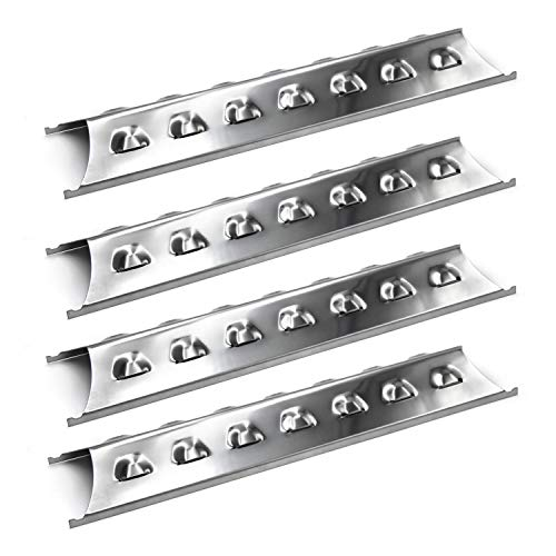 Hongso Stainless Steel Heat Plate Tent for Kenmore 2518SL-2003-N, Master Forge 2518-3, 3218LT, L3218, Brinkmann 810-8410-S, Perfect Flame, Charmglow, 15 3/8 Inches Flavorizer Bar SPE181 (4-Pack)