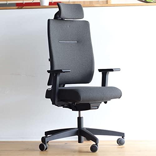 Viasit Toleo Pro NPR, ergonomischer Bürostuhl, Deutscher Hersteller,150Kg, 3D-Sitztechnik, 4D-Nackenstütze, individuell anpassbar, Schwarz, Vollpolsterung