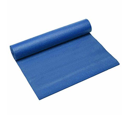 Em Home Esterilla de Fitness de Espuma y Antideslizante Tamaño 173x61cm Lavable en lavadora (Azul)