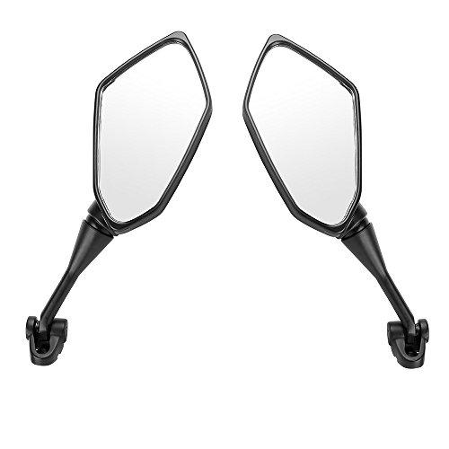 Motorrad-Rückspiegel, 360 Grad drehbar, strapazierfähig, für Motorräder, flexibler Spiegel, links und rechts, mit Weitwinkel, für Honda CBR 600 F4 F4I, 2 Stück