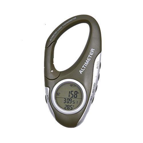 Waroomss Höhenmesser, Höhenmesser, Multifunktions-Thermometer, Klimaüberwachung, Outdoor, Schlüsselanhänger, Clip für Camping, Digital-Höhenmesser