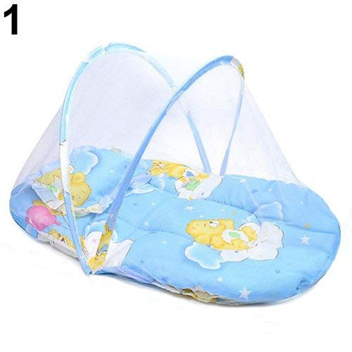 Foldable Baby Travel Bed Portable Foldable Mosquito Net Crib Tent Beach Tent With Sleeping Mat Pop-up Crib Mosquito Net Bed Breathable Crib Tent With Pillow