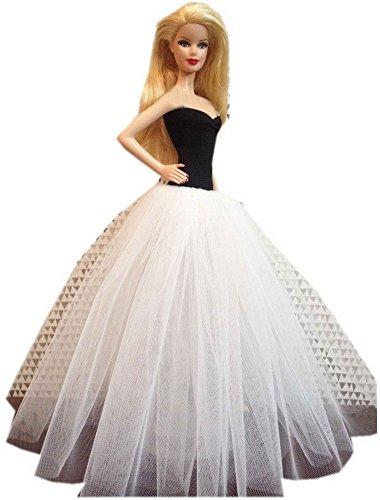 classique vetements Elégant Robe de mariée, noir et blanc